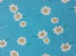 TURQOUISE DAISY - Fabric- 100% COTTON - Price Per Metre